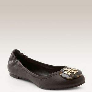 Tory Burch Brown Reva Faux Tortoiseshell Flats